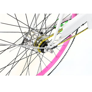 Esme | Yellow Chain, Pink Wheels, and White Wall Tires