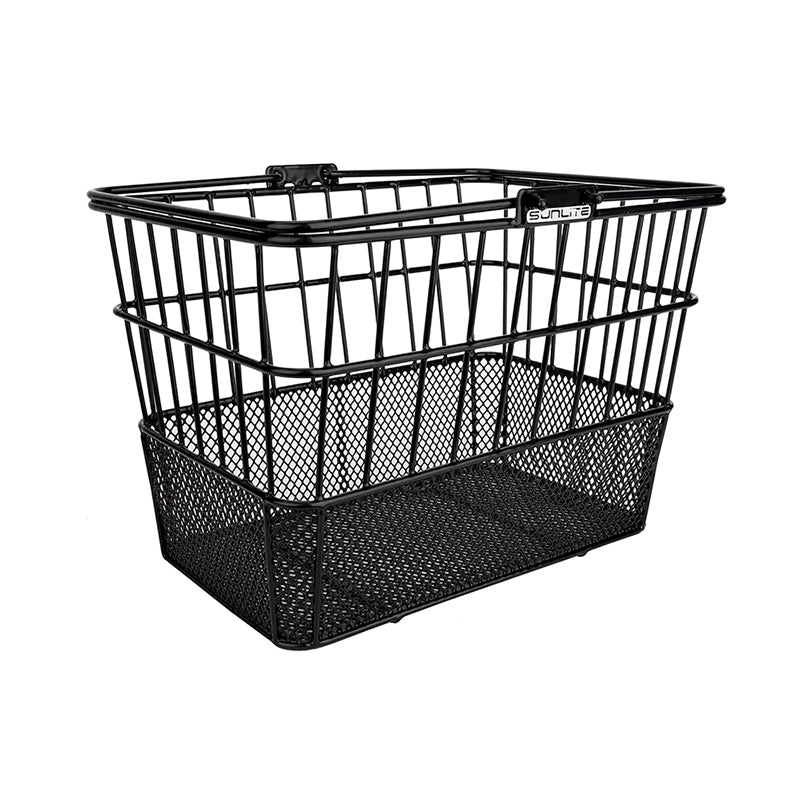 Black Standard Mesh Bottom Lift-Off Basket - Steel & Mesh