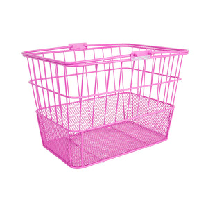Pink Standard Mesh Bottom Lift-Off Basket - Steel & Mesh