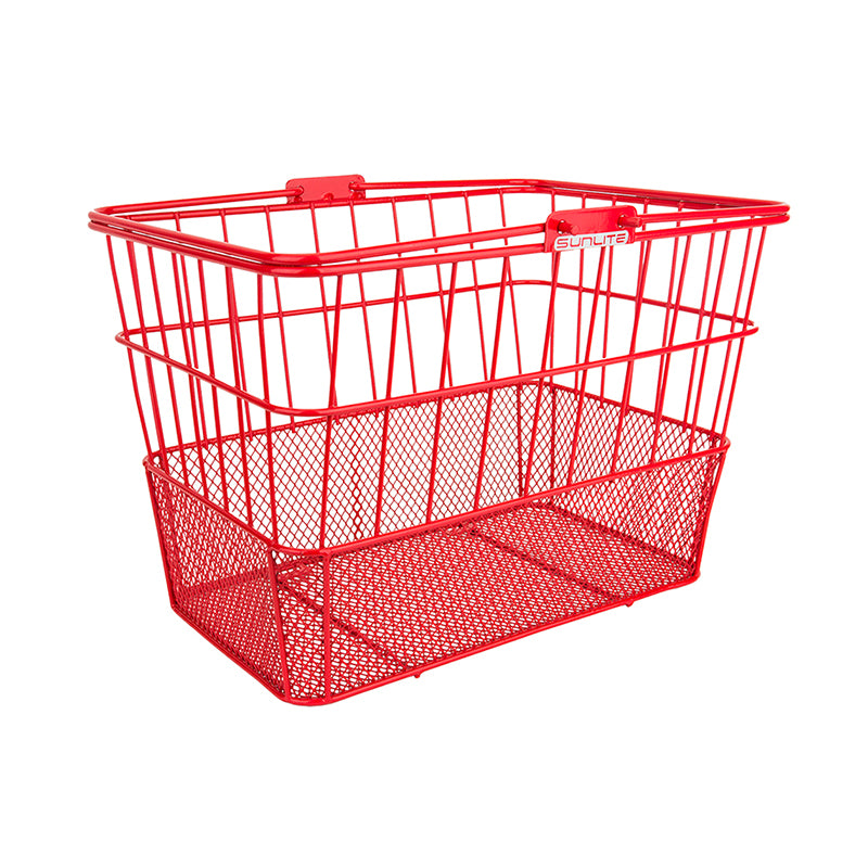 Red Standard Mesh Bottom Lift-Off Basket - Steel & Mesh
