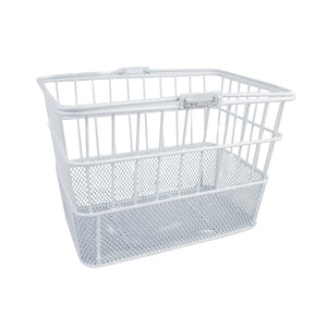 White Standard Mesh Bottom Lift-Off Basket - Steel & Mesh
