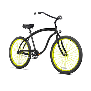 Black Cruiser with Neon Yellow Wheels
