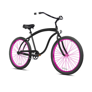 Black Cruiser with Electric Berry Pink Wheels