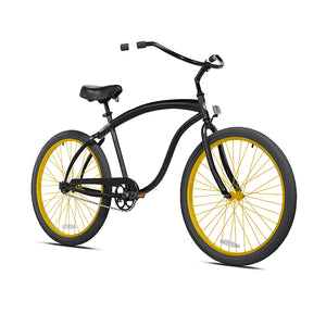 Black Cruiser with Electric Honey Gold Wheels