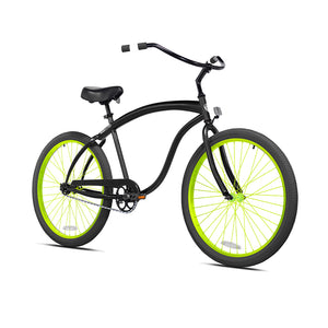 Black Cruiser with Electric Lime Green Wheels