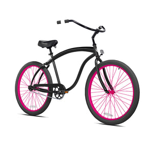 Black Cruiser with Magenta Wheels