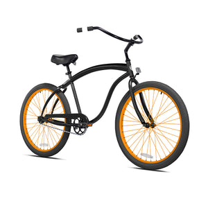 Black Cruiser with Orange and Black Wheels