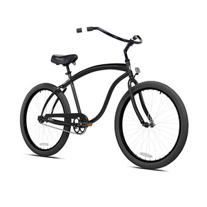 Black Cruiser with Black and White Wheels