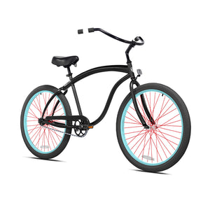Black Cruiser with Light Blue and Red Wheels