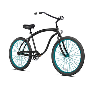 Black Cruiser with Teal Wheels