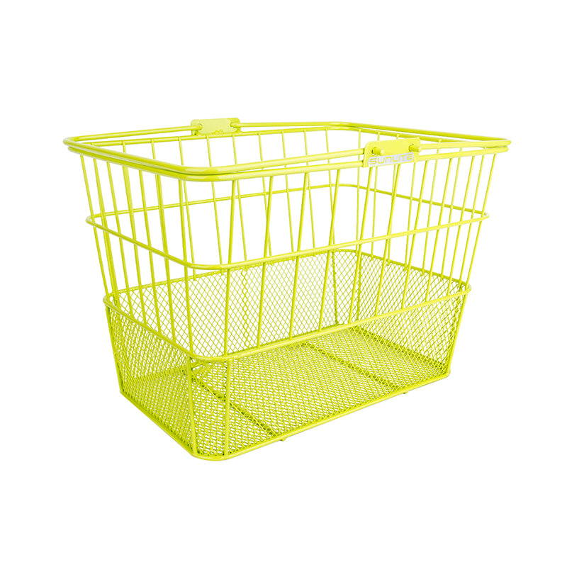 Neon Yellow Standard Mesh Bottom Lift-Off Basket - Steel & Mesh
