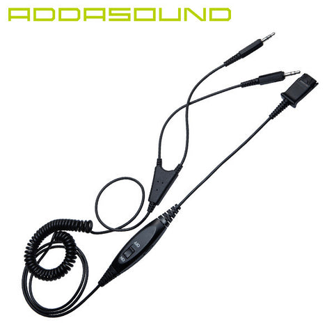 ADDASOUND DN1021 DUAL 3.5mm Sound Card Cord for Crystal Headsets - Headset World USA - Your Headset Solutions