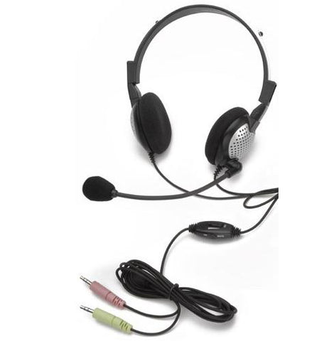 Noise Canceling DUO Headset with Sound Card Cord - with Volume