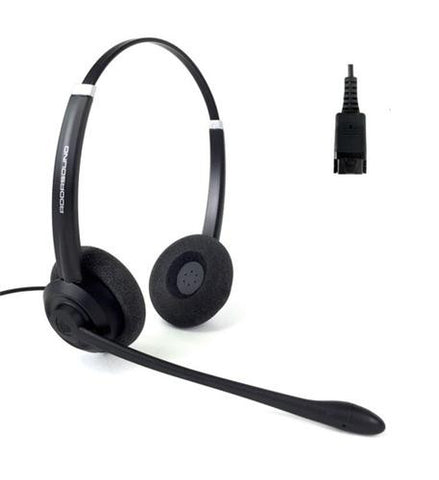 Addasound Crystal SR2702 Entry USB Duo Wired Headset - Item SR2702 - Headset World USA - Your Headset Solutions