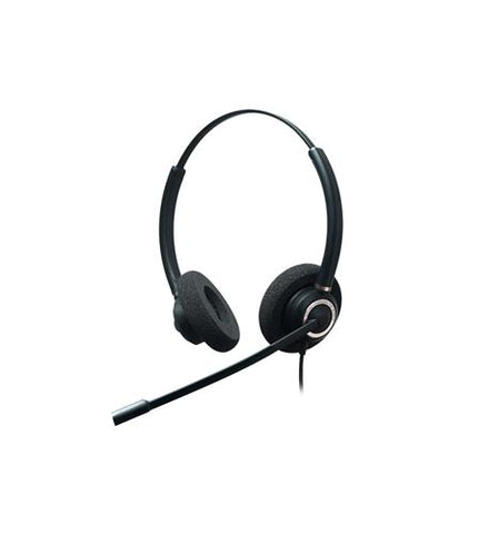 Addasound CRYSTAL2832RG Dual Ear Headset with DN1011 USB Cord Included
