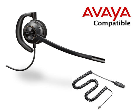Plantronics HW530 over the ear headset with Avaya cord