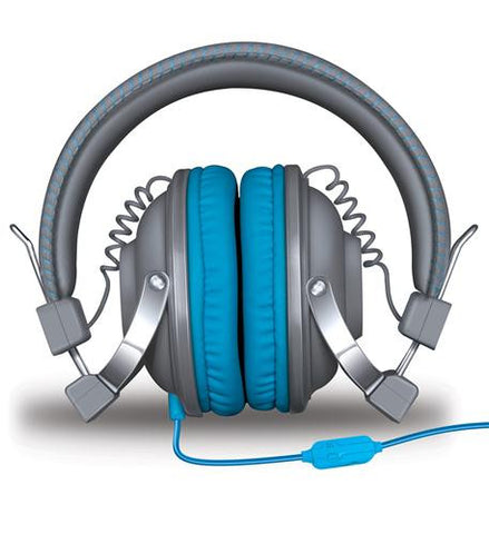 iSound HM-260 Headphones w/Mic Gray & Blue