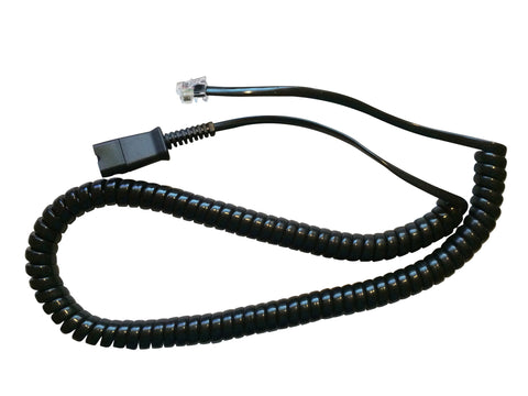 Amplifier cord for Plantronics headsets