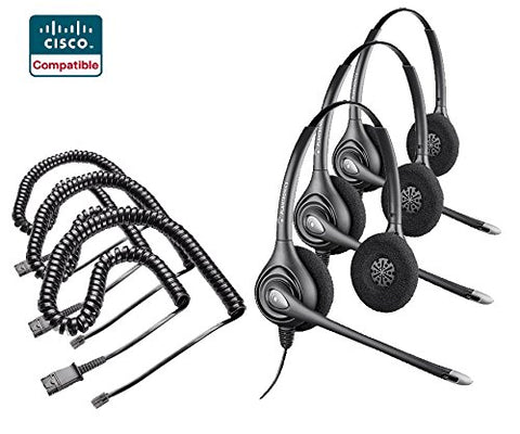 Cisco Certified Plantronics HW261N Headset Bundle 3X with Cisco cords Included - Headset World USA - Your Headset Solutions