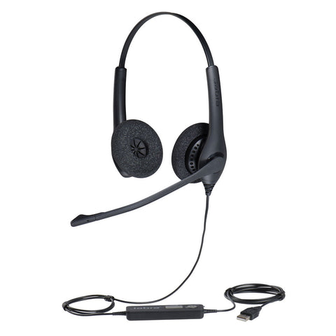 Jabra Biz 1500 DUO USB Headset - for use on computers 1559-0159 - Headset World USA - Your Headset Solutions