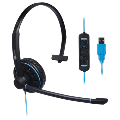 JPL Blue Commander USB Monaural Headset