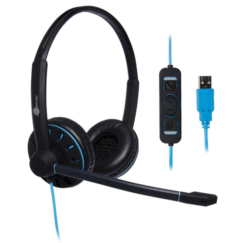 JPL Blue Commander 2 Binaural USB Headset - For use on your computers