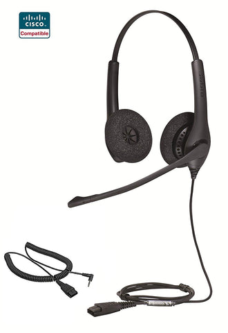 Cisco Certified Jabra Biz 1500 Duo with 2.5MM cord for SPA phones