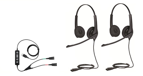 Jabra Biz 1500 DUO Headset w/USB Y-Cord for Training