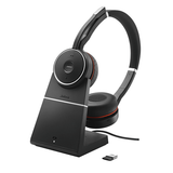 Jabra Evolve 75 UC Stereo Headset with Charging stand 7599-838-199 - Headset World USA - Your Headset Solutions