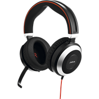 Jabra Evolve 80 MS USB DUO Stereo Headset 7899-823-109 - CONTACT US FOR SPECIAL PRICING OFFERS - Headset World USA - Your Headset Solutions