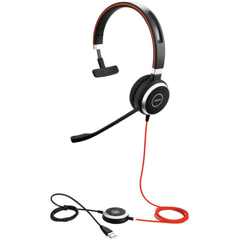 Jabra EVOLVE 40 UC MONO USB Headset 6393-829-209 - CONTACT US FOR SPECIAL PRICING OFFERS! - Headset World USA - Your Headset Solutions