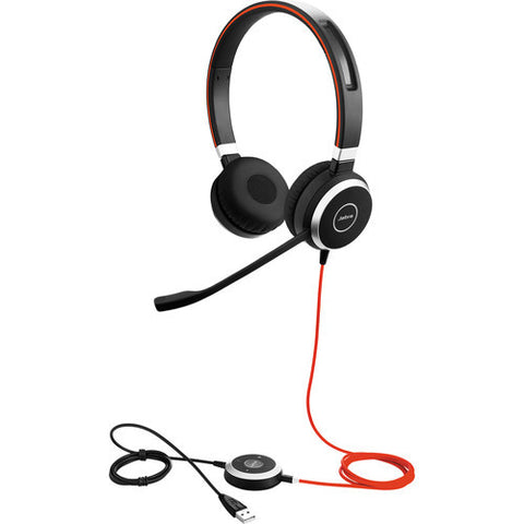 Jabra EVOLVE 40 UC Stereo DUO Headset 6399-829-209 - CONTACT US FOR SPECIAL PRICING OFFERS! - Headset World USA - Your Headset Solutions