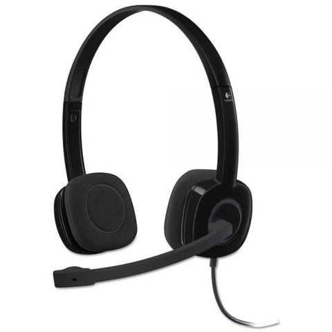 Logitech H151 Binaural Over-the-Head Stereo Headset, Black 981-000587 - Headset World USA - Your Headset Solutions