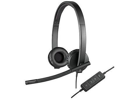 Logitech H570e Binaural USB Headset 981-000574 - Headset World USA - Your Headset Solutions