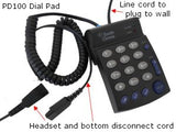HOME REP COMBO - Smith Corona Classic Monaural headset w/PD100 - Headset World USA - Your Headset Solutions