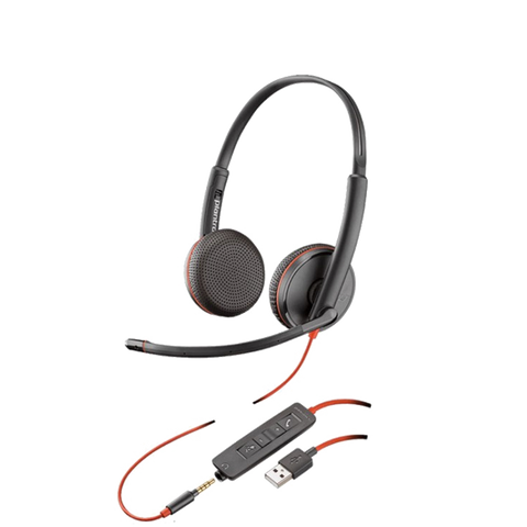 Plantronics Blackwire C3225 DUO USB-A Headset  209747-101