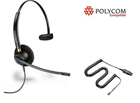 Polycom Compatible Plantronics HW510 Headset with Cord 89433-01