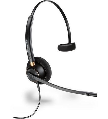 Plantronics EncorePro HW510 Monaural Headset w/Polaris U10P bottom cord
