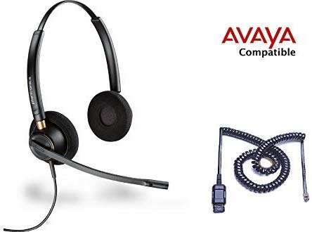 Avaya compatible Plantronics HW520 with Avaya interface Cable