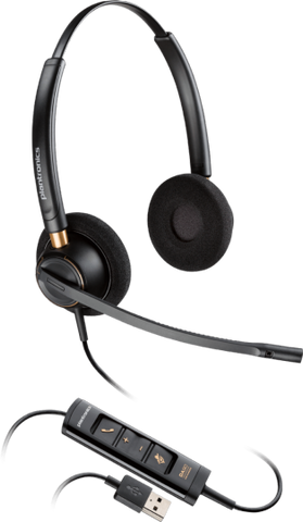 Plantronics ENCOREPRO HW525 Binaural USB Headset 203444-01