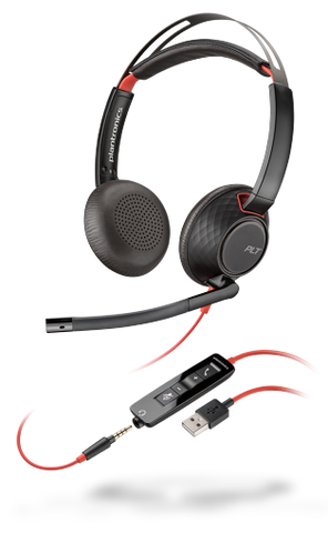 Plantronics Blackwire 5220 Stereo USB-A Headset 207576-01 - Headset World USA - Your Headset Solutions