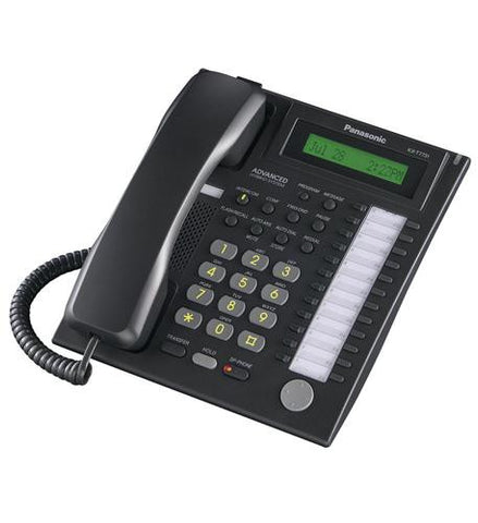 Panasonic KXT-7731-B24 Button Speakerphone with Backlit Dialpad and LCD Display - Black - Headset World USA - Your Headset Solutions