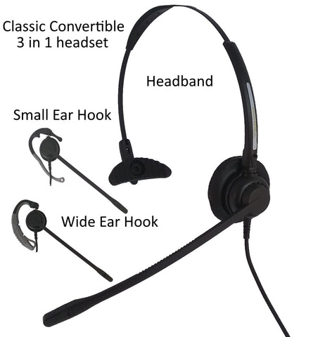 Smith Corona Classic Convertible Headset with USB Bottom Cord