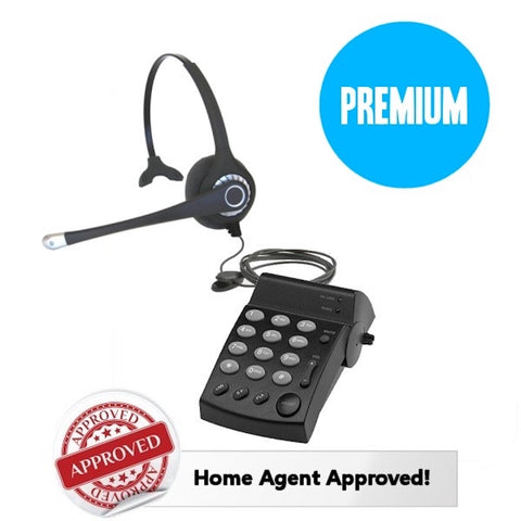 Hone Rep Combo Set - Smith Corona Ultra Monaural Headset w/PD100 Dial Pad - Headset World USA - Your Headset Solutions
