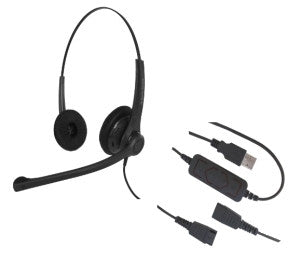 Smith Corona VoiceLunc Binaural USB Headset P14692