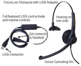 Smith Corona VoiceLync Monaural Headset w/detachable USB Adapter - GN/Jabra QD Compatible P14470