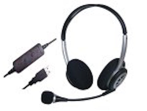 Smith Corona Compusound II Binaural Headset with USB P13736