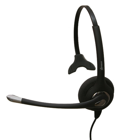 Starkey S500-PL T500 Elite Noise Canceling Headset w/Plantronics compatible quick disconnect - Includes CISCO bottom cord