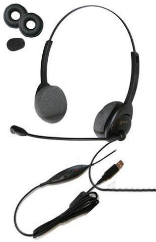 Starkey SM5400 Binaural USB Push to Talk Headset for Military