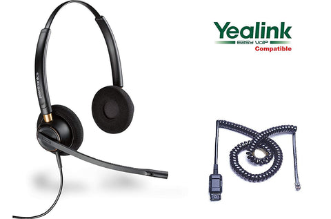 Yealink Compatible Plantronics HW520 Duo Headset with Cord